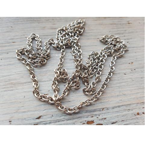 Chain, silver, 1 m