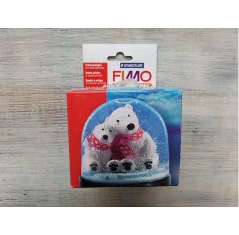 Fimo empty snow globe, large, 90*75 mm