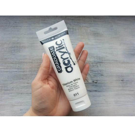 "DALER ROWNEY acrylic paint ""Graduate"", titanium white, 120 ml, No. 011"