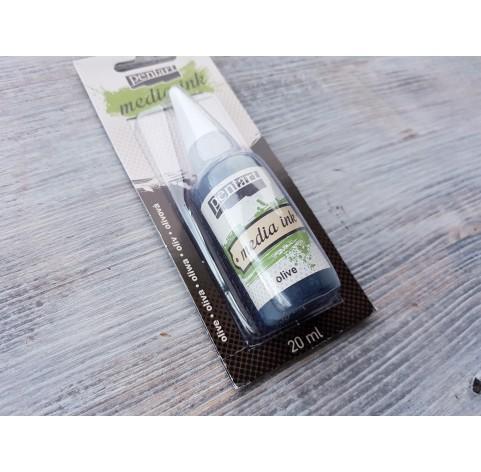 PENTART alcohol-based ink, olive, 20 ml, No. 21034