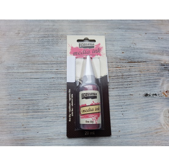 PENTART alcohol-based ink, fire lily, 20 ml, No. 21016