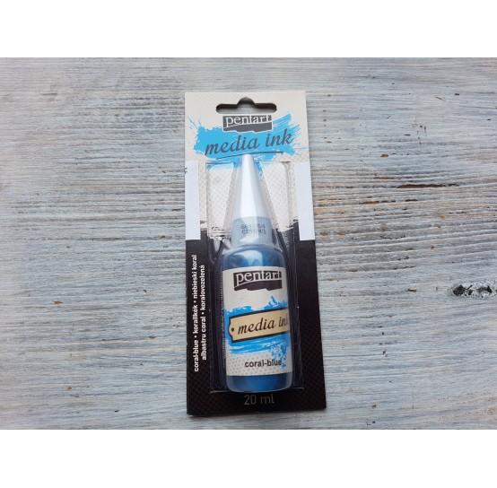 PENTART alcohol-based ink, coral-blue, 20 ml, No. 21043