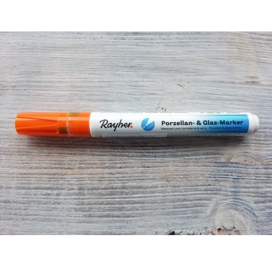 Felt pen/marker for porcelain and glass, orange, for lines 1-2 mm