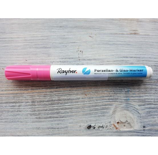 Felt pen/marker for porcelain and glass, pink, for lines 1-2 mm