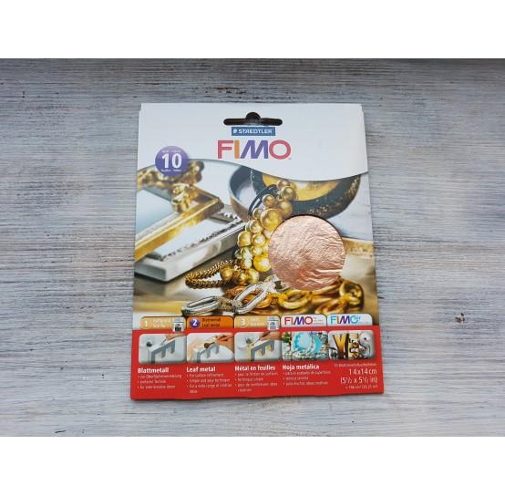 FIMO metal leaves 14*14 cm, copper, 10 pcs., No. 878126