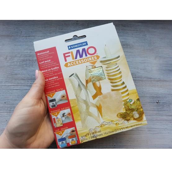 FIMO metal leaves 14*14 cm, shell, 7 pcs., No. 878099