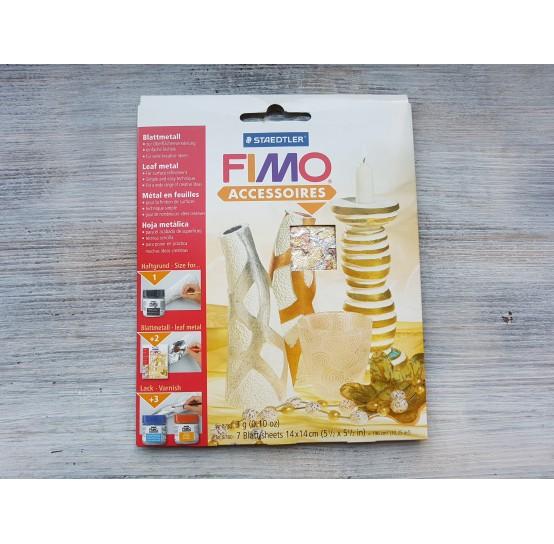 FIMO metal leaves 14*14 cm, flakes, 7 pcs., No. 878199
