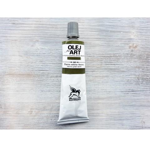Renesans OLEJ FOR ART oil paint, verona terre verte, 60 ml, No. 44