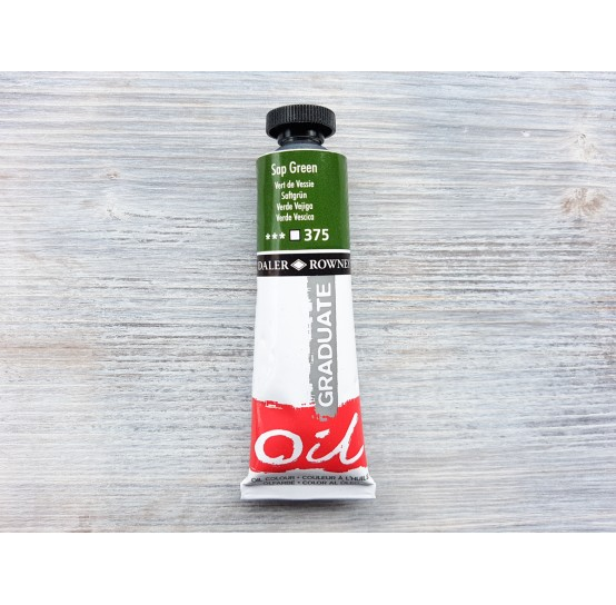 "DALER ROWNEY oil paint ""Graduate oil"", sap green, 38 ml, No. 375"