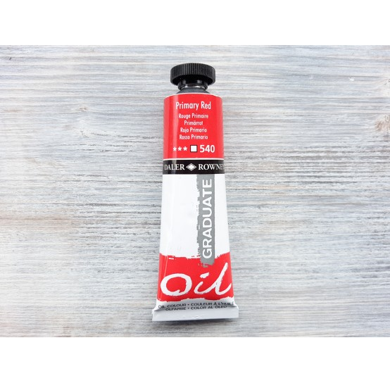 """DALER ROWNEY oil paint """"Graduate oil"""", primary red, 38 ml, No. 540"""