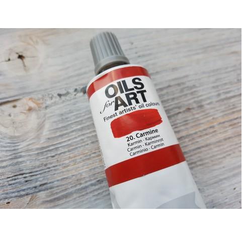 Renesans OLEJ FOR ART oil paint, carmine, 60 ml, No. 20