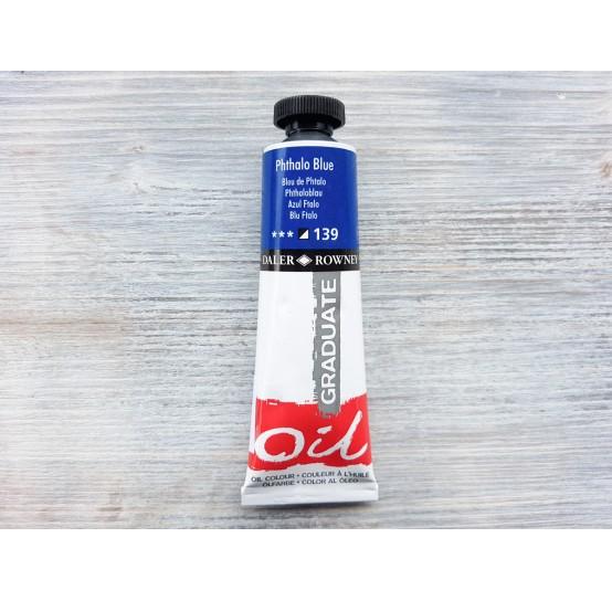 "DALER ROWNEY oil paint ""Graduate oil"", phthalo blue, 38 ml, No. 139"
