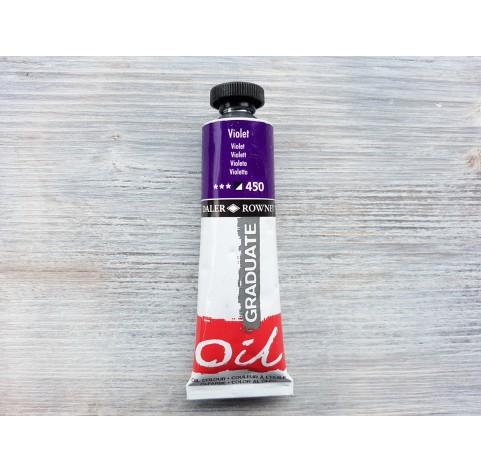 """DALER ROWNEY oil paint """"Graduate oil"""", violet, 38 ml, No. 450"""