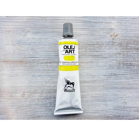 Renesans OLEJ FOR ART oil paint, cadmium yellow pale, 60 ml, No. 09