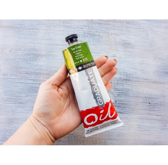 "DALER ROWNEY oil paint ""Graduate oil"", sap green, 200 ml, No. 375"