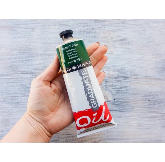 "DALER ROWNEY oil paint ""Graduate oil"", hooker's green, 200 ml, No. 352"