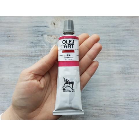Renesans OLEJ FOR ART oil paint, magenta lake, 60 ml, No. 23