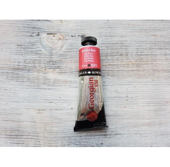"DALER ROWNEY oil paint ""Georgian oil"", brilliant rose, 38 ml, No. 531"
