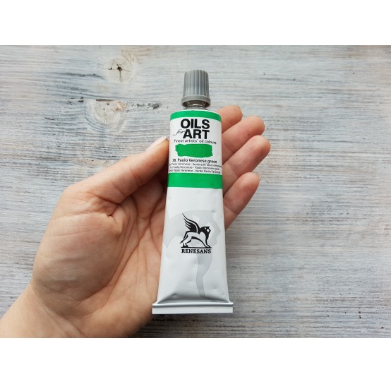 Renesans OLEJ FOR ART oil paint, Paolo Veronese green, 60 ml, No. 38