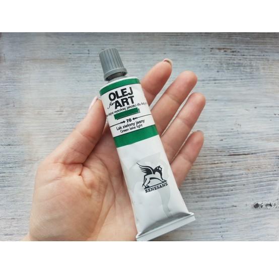 Renesans OLEJ FOR ART oil paint, green lake light, 60 ml, No. 70