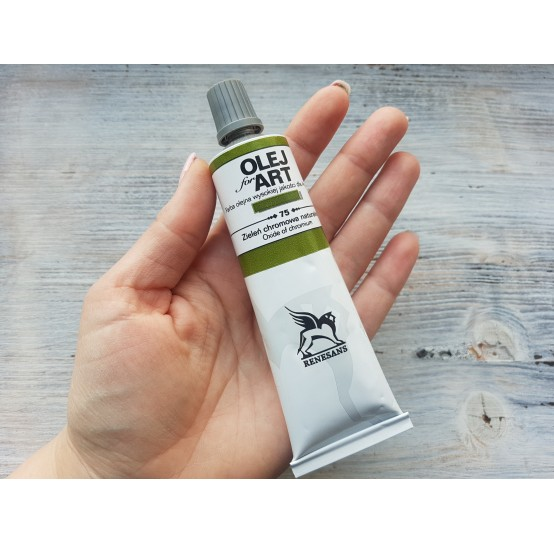Renesans OLEJ FOR ART oil paint, chromium oxide green, 60 ml, No. 75