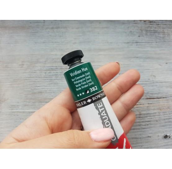 "DALER ROWNEY oil paint ""Graduate oil"", viridian hue, 38 ml, No. 382"