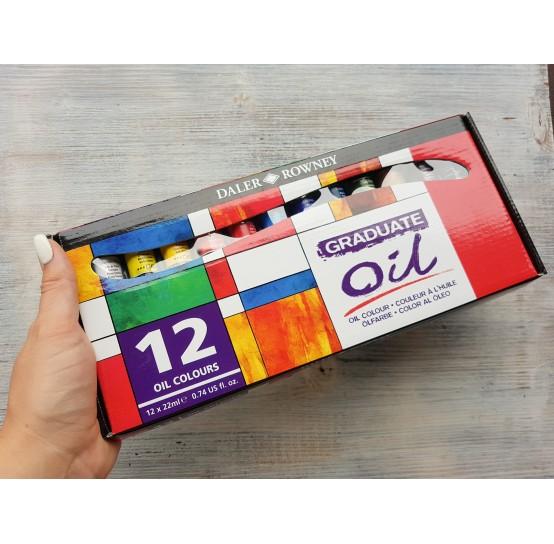 """DALER ROWNEY oil paint set """"Graduate oil"""", 12*22 ml"""