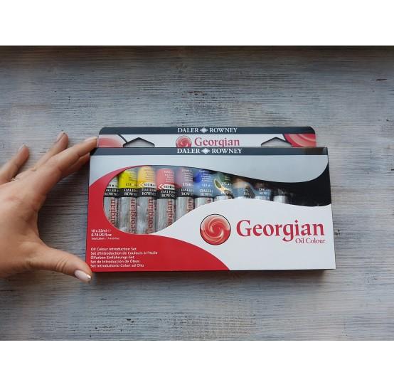 """DALER ROWNEY oil paint set """"Georgian oil"""", 10*22 ml"""