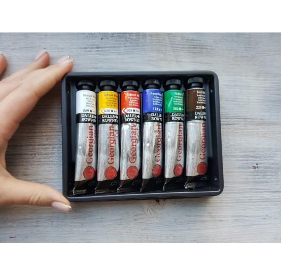 """DALER ROWNEY oil paint starter set """"Georgian oil"""", 6*22 ml"""