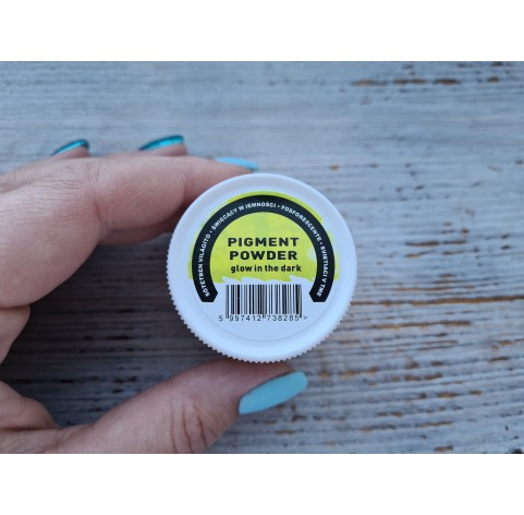 PENTART pigment powder White, glow in the dark, 12 g