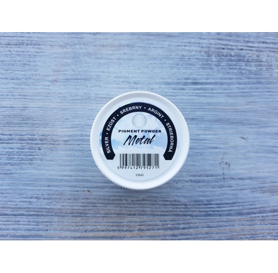 PENTART pigment powder Metallic Effect, silver, 5 g