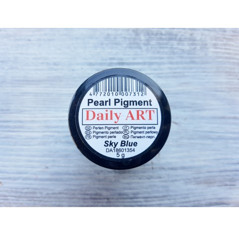 Daily Art pearl effect pigment powder, sky blue, 5 g