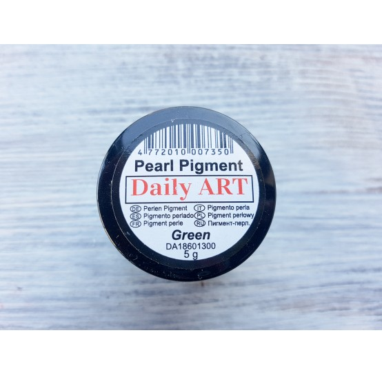 Daily Art pearl effect pigment powder, green, 5 g