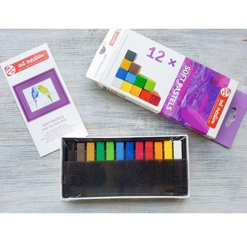 Soft pastels 12 colours, Royal Talens, Art Creation