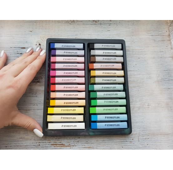 Set of soft pastels chalks, 24 colours, Staedtler