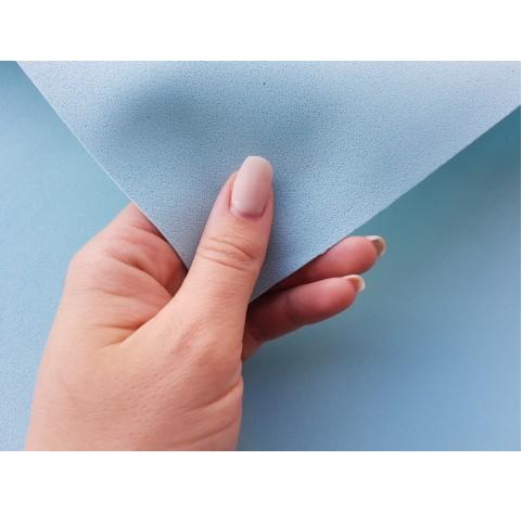 Foamiran sheet, foam rubber, Azzuro Baby, 1 mm, 60*40 cm