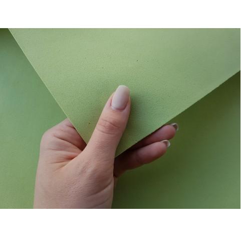 Foamiran sheet, foam rubber, Verde Pistacchio, 1 mm, 60*40 cm