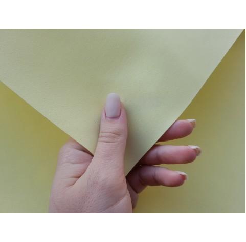 Foamiran sheet, foam rubber, Giallo Chiaro, 1 mm, 60*40 cm