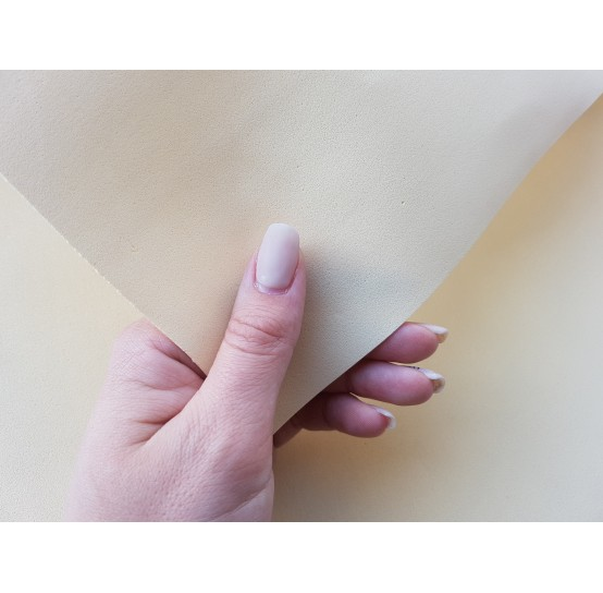 Foamiran sheet, foam rubber, Vaniglia, 1 mm, 60*40 cm