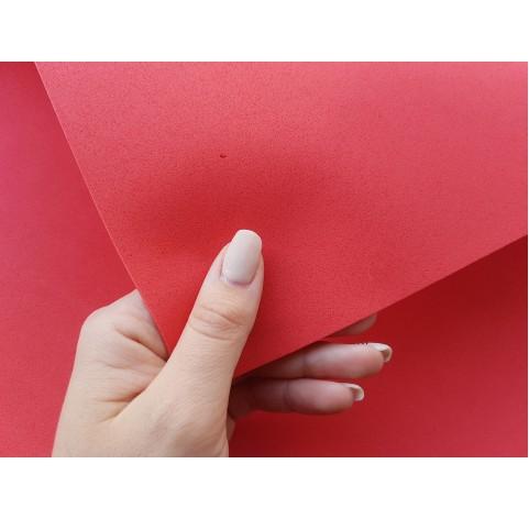 Foamiran sheet, foam rubber, Rosso, 1 mm, 60*40 cm