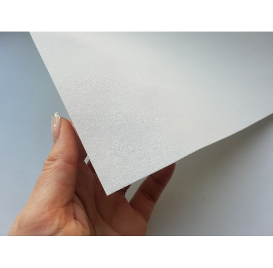 Foamiran sheet, foam rubber, Blanco, 1 mm, 60*40 cm