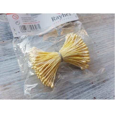 Decorative pistils, yellow, 144 pcs