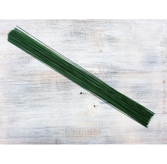 Floristic cut wire, green, Ø 0.5 mm, 40 cm, pack ~ 70-80 pcs., 100 g