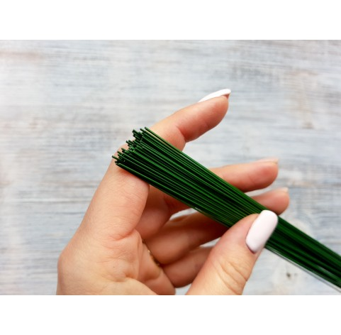 Floristic cut wire, green, Ø 0.6 mm, 40 cm, pack ~ 70-80 pcs., 100 g
