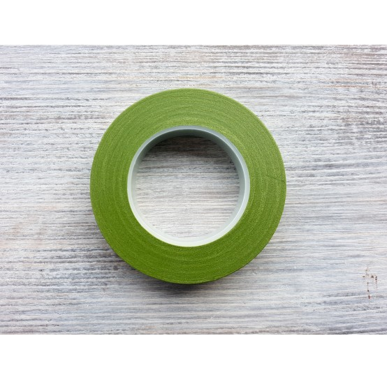 Floral tape, green, 13 mm*27 m