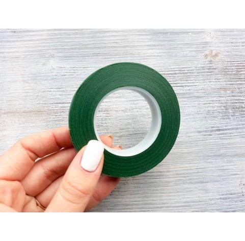 Floral tape, dark green, 13 mm*27 m