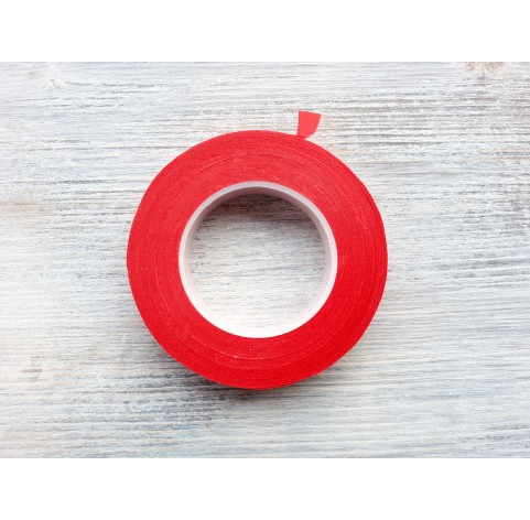 Floral tape, red, 13 mm*27 m