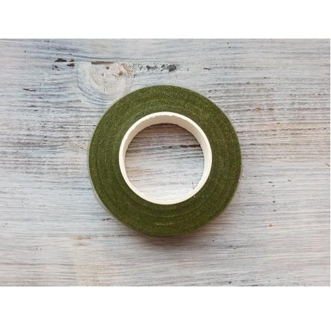 Floral tape, grass green, 13 mm*27 m