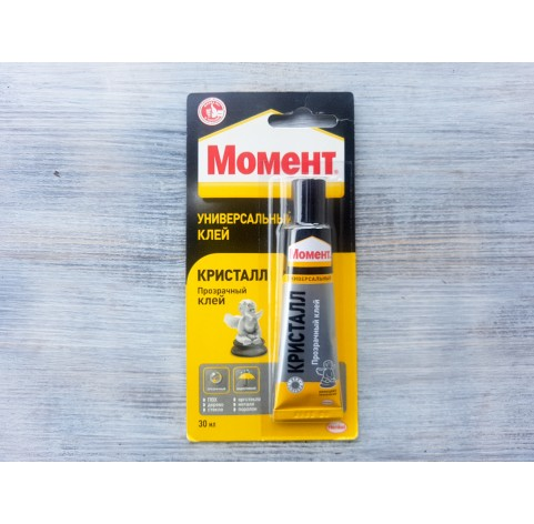 Contact glue / Moment Crystal blister, transparent, 30 ml