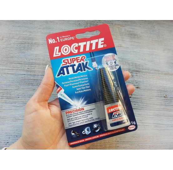 Loctite super glue Super Attak, transparent, 5 g